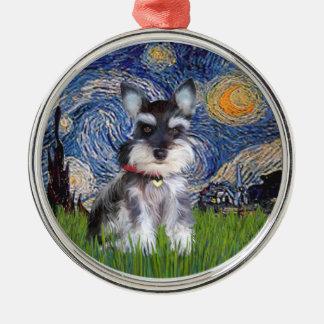 Starry Night - Schnauzer Puppy #10 Ornament