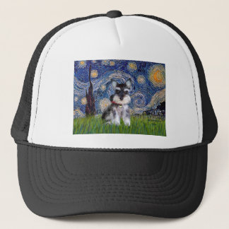 Starry Night - Schnauzer Puppy #10 Trucker Hat