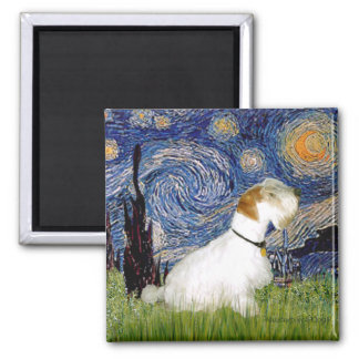 Starry Night - Sealyham Terrier (L) 2 Inch Square Magnet