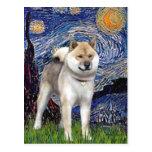 Starry Night - Shiba Inu Postcard