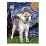 Starry Night - Shiba Inu Postcards