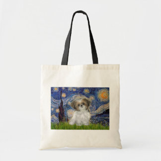 Starry Night - Shih Tzu Puppy Tote Bag