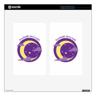 Starry Night Kindle Fire Decal