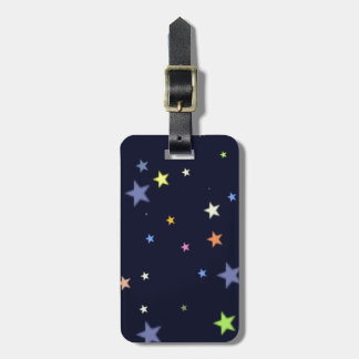starry night sky bag tag