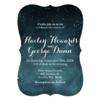 Starry Night Sky Constellations Wedding Invitation