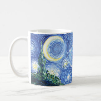 Starry Night Sky Design Coffee Mug