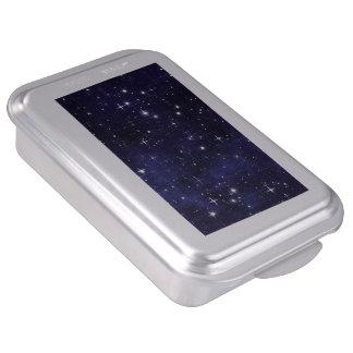Starry Night Sky Grid Cake Pan