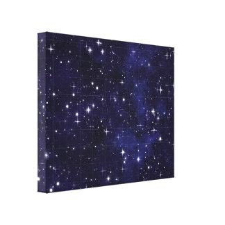 Starry Night Sky Grid Canvas Print
