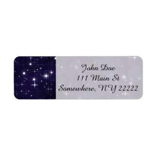 Starry Night Sky Grid Label