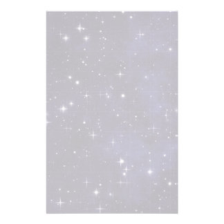 Starry Night Sky Grid Stationery