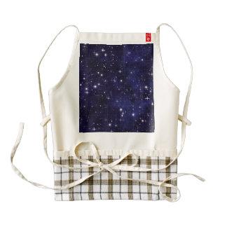 Starry Night Sky Grid Zazzle HEART Apron