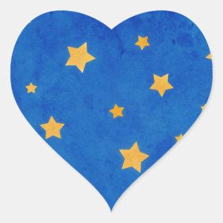 Starry Night Sky Heart Sticker