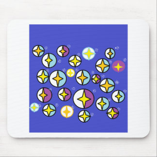 Starry Night Sky Orbs Mouse Pad