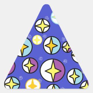 Starry Night Sky Orbs Triangle Sticker