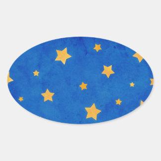 Starry Night Sky Oval Sticker