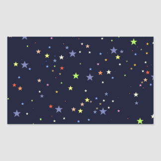 starry night sky rectangular sticker