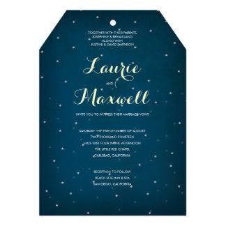 Starry Night Sky Wedding Invitation
