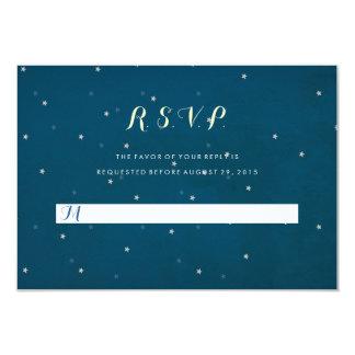 "Starry Night Sky Wedding RSVP Response Card 3.5"" X 5"" Invitation Card"