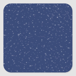 Starry Night Square Sticker