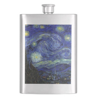 Starry Night Stainless Steel Classic Flask 8 oz
