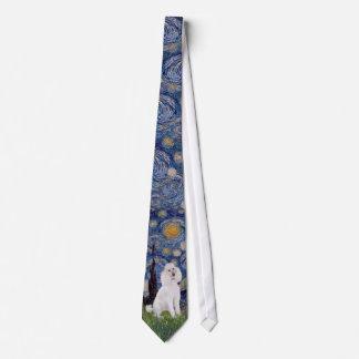 Starry Night - Standard Poodle (W) Neck Tie