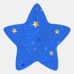 Starry night star stickers