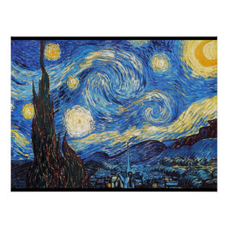 Starry Night Starry Night Abstract Sky Poster