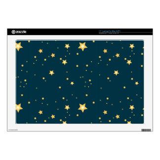 "starry night stars pattern skins for 17"" laptops"