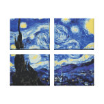 Starry Night Stretched Canvas Print