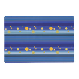 Starry Night Stripes Pattern Art Placemat