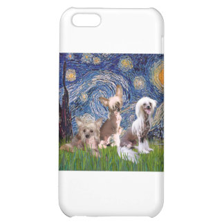 Starry Night - Three HL Chinese Cresteds iPhone 5C Covers