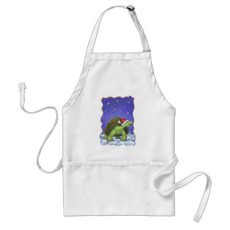 Starry Night Tortoise Christmas Adult Apron