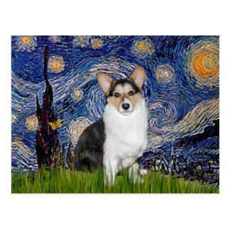 Starry Night - Tri Color Welsh Corgi 10 Postcard