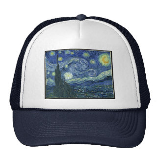 starry night trucker hat