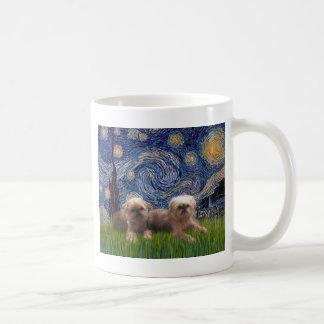Starry Night - Two Brussels Griffon Coffee Mug