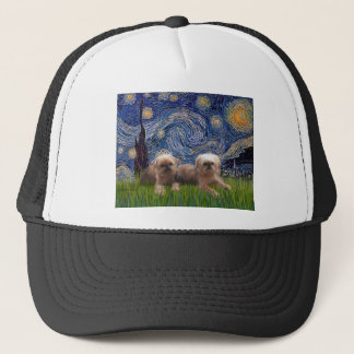 Starry Night - Two Brussels Griffon Trucker Hat