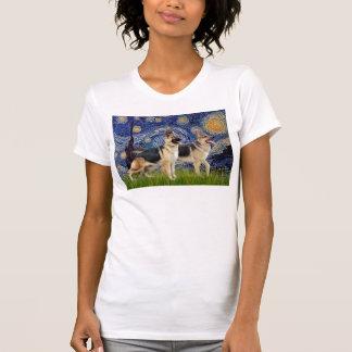 Starry Night - Two German Shepherds T Shirts