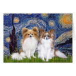 Starry Night - Two Papillons Card