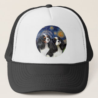 Starry Night - Two Tri Cavaliers Trucker Hat
