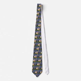 Starry Night - Two Welsh Corgis (C + P) Tie