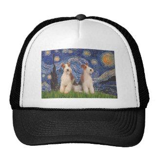 Starry Night - Two Wire Fox Terriers Trucker Hat