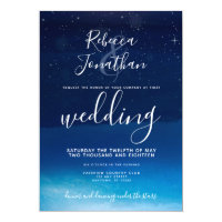 Starry Night Under the Stars Wedding Invitation