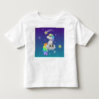 Starry Night Unicorn Rainbow Stars for Tots! Toddler T-shirt