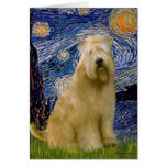 Starry Night (V) - Wheaten Terrier Greeting Cards