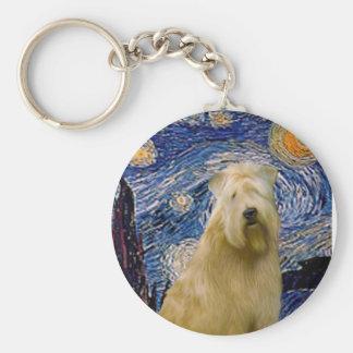 Starry Night (V) - Wheaten Terrier Keychain