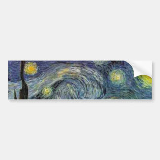 Starry Night - van Gogh Bumper Sticker