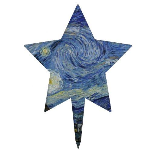 Starry Night Van Gogh Cake Topper