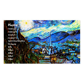 Starry Night Van Gogh Fine Art Business Card