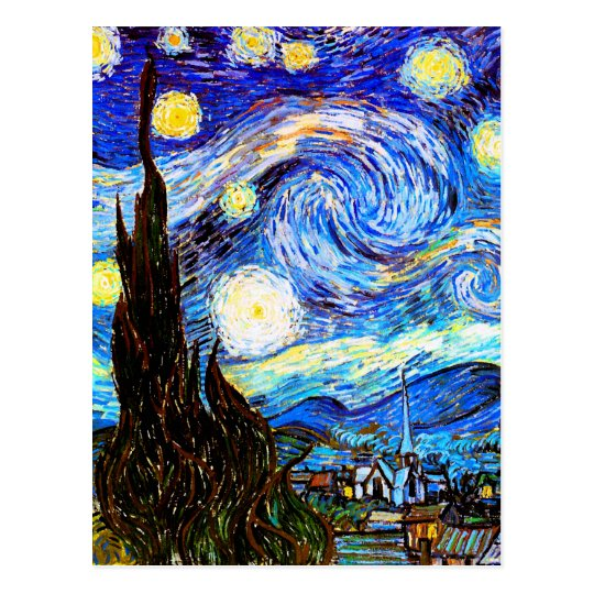 Starry Night Van Gogh Fine Art Postcard
