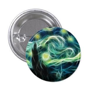 Starry Night Van Gogh Fractal Art 1 Inch Round Button